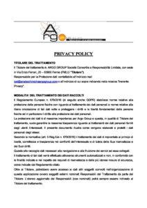 SITO ARGO PRIVACY POLICY